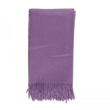 Cashmere Throw in Amethyst by Alashan