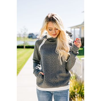 Double Hood Cable Knit Pullover - In House