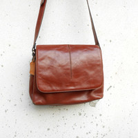 Vintage Duo Lynx Leather Messenger , Crossbody , Shoulder , Purse // Small - Medium