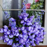 Spring Floral Table Decorations - Table Centerpieces - Tulips - Home Decorations - Summer Floral Arrangement - Home Accents