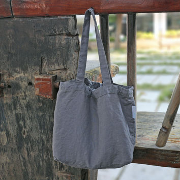 Vintage Washed Linen Daily bag
