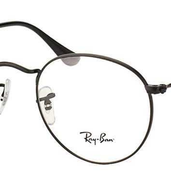Ray Ban Eyeglasses RX3447V 2503 Matte Black Round Metal Frame 50mm