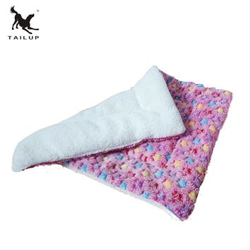 TAILUP 2017 New Arrival Dog Bed Mats Soft Faux Lamb Wool Warm Pet Cat Puppy Travel Sleep Mat 3Colors S-XL