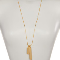 On HauteLook: Vince Camuto | Double Tag Pendant Necklace