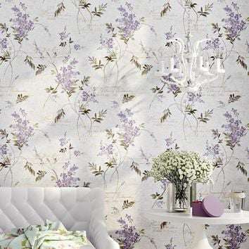 Colomac 3D modern non-woven printed flower  living room hotel wallpaper roll  PVC home waterproof  bedroom decor wall paper