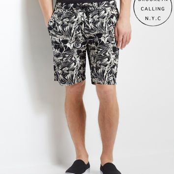 Brooklyn Calling Tropical Woven Jogger Shorts