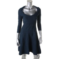 Zac Posen Womens Textured Cut-Out Party Dress