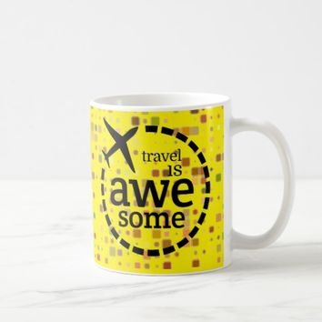 Travel is Awesome plane design Coffee Mug