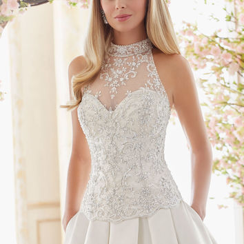 Crystal Beaded and Embroidered Wedding Dress Bodice | Style 6841 | Morilee