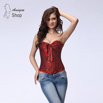Sexy Corsets and Bustiers Slimming Female Steampunk Underbust Corset Gothic Corpetes e Espartilhos Halloween Costumes for Women