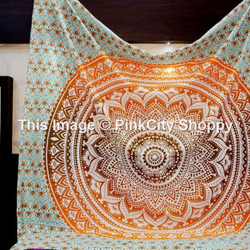 Hang Blanket On Wall hippie tapestry wall hanging indian from pinkcityshoppy on etsy
