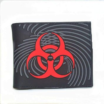 Free Shipping Cartoon wallet Resident Evil PAC MANA lot of style short wallet