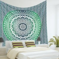 Indian Mandala Tapestry Hippie Hippy Wall Hanging Throw Bedspread Dorm Tapestry ...