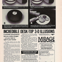 1977 Geeky Kitsch Advertisement - Incredible Desk-Top 3-D Illustions Advertisement - Funny Mirage Advertisement Geekery Gift Techie Gift