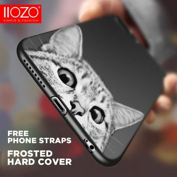 Fashion Lovely Various Cat Phone Cases For iphone 7 Case Cute Cats Animal Cases Hard back Cover for iPhone 6 6S 6plus 7plus