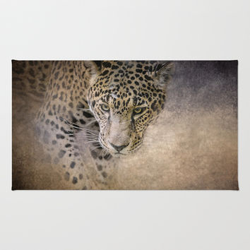 Stalking Her Prey - Wildlife - Leopard Area & Throw Rug by Jai Johnson