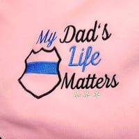 Baby Blanket, Police Baby, My Dad's Life, Matters,  Baby Shower Gift, LEO Baby Shower, Cop Baby Gift, Crib Blanket 30X30, Baby Boy, Baby