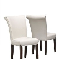 "Taupe Leather-Look 39""H Side Chair (Set Of 2)"