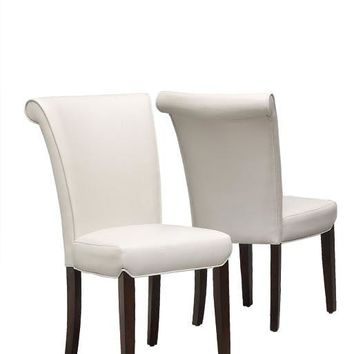 """Taupe Leather-Look 39""""H Side Chair (Set Of 2)"""