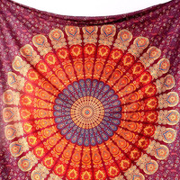 LARGE Mandala Fabric Wall Tapestry Throw Bohemian Hippie Mandala Wall Hanging Bedspread Boho Bedding Ethnic Home Decor