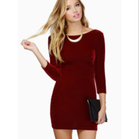 Slim Backless Bodycon Dress B0014399