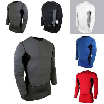 DCCKFS2 2018 New Compression Base Cozy Men's Layer Sports Wear Long Sleeve Blouse Athletic Man Tops Gear Jersey