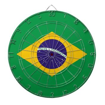 Dartboard with Flag of Brazil