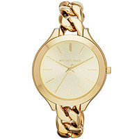 Michael Kors Slim Runway Goldtone Bracelet Watch - Gold