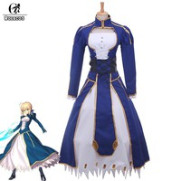 ROLECOS Japanese Anime Night Cosplay Costume Saber Arturia Pendragon Cosplay Costumes Vintage