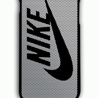 iPhone 6 Plus Case - Rubber (TPU) Cover with Nike Logo on Steel Mesh Titanium Rubber Case Design