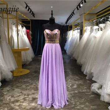 Vestidos de Fiesta 2018 A-line Prom Dresses Sweetheart Sleeveless Backless Floor Length Formal Party Evening Gown Robe De Soiree