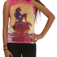 Disney The Little Mermaid Sunset Girls Muscle Top
