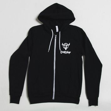 Cow Chop Branded Full Zip Hoodie