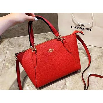 Coach fashion hot seller casual lady single shoulder bag shopping bag Red