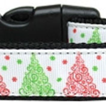 Fancy Schmancy Christmas Tree Nylon Dog Collar Large