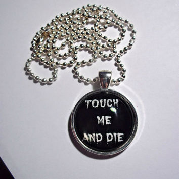 Touch Me and Die Necklace // Personal space awareness dome Necklace