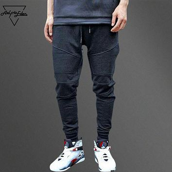 Aelfric Eden G-DRAGON Joggers Sweatpants Pleated Simple Men Pants Feet Ninja Trousers Man Cotton Harem Pants Cozy Casual Pants