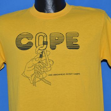 80s COPE Course Lake Arrowhead Scout Camp t-shirt Medium