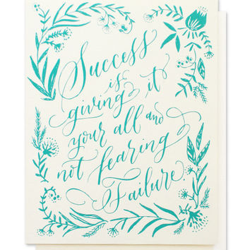calligraphy success card