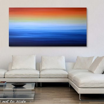 Large 48 X 24 Abstract Ocean Seascape From Gillian Sarah Art