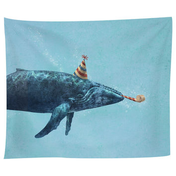 Party Whale Tapestry