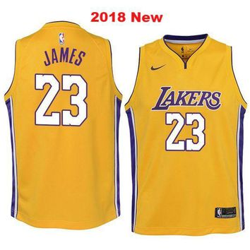 [Free Shipping ]LeBron James #23 Los Angeles Lakers Basketball Jerseys