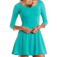 Paneled Skater Dress by Charlotte Russe