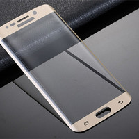 For Samsung Galaxy S6 Edge Plus Full Cover Curved Side Tempered Glass Screen Protector 0.2MM 9H 2.5D Explosion Proof With Retail Box