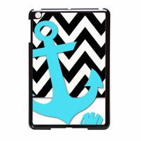 Chevron Anchor Personalized iPad Mini Case