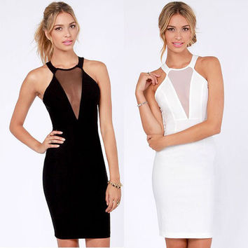 Women's Sexy Slim Party Dress Cocktail Party Clubwear = 4427486980