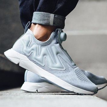 CREYNW6 Sale Reebok Pump Supreme Engine Cable Grey/White BS7043 Fashion Shoes Sneaker Casual Shoes