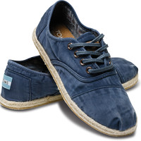 TOMS Shoes Blue Ceara Cordones Lace-Up Sneakers Women's Shoes,