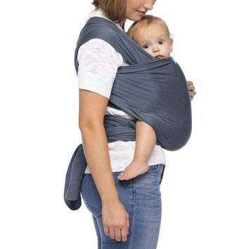 Moby Wrap Classic Mist Baby Carrier - Blue
