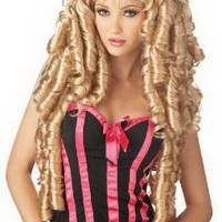 Women's Gold Curly Hair Wigs [4923184132]